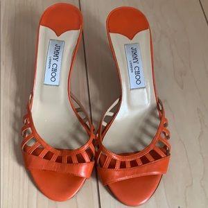 🧡Jimmy Choo Orange Sandal 🧡